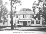 Liberty Hall at Warminster owned by Dr. William Cabell, owner of the Swan Creek Plantation, Lovingston, Nelson, Virginia