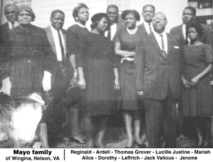 Mayo family of Lovingston, Nelson, Virginia