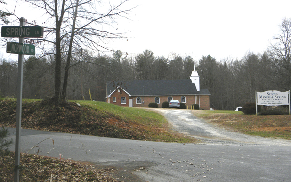 Second Mineral Springs Baptist Church, Gladstone, Nelson, VA