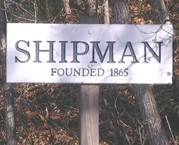 Shipman, Nelson, VA sign