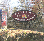 Amherst County, Virginia established in 1761